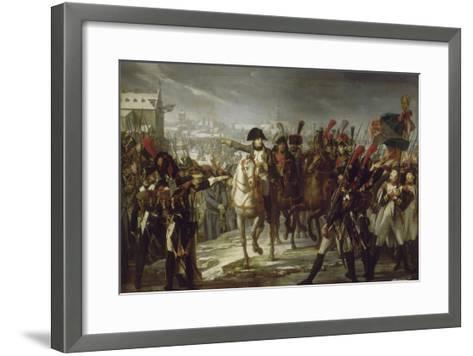 Sur le pont de Lech, à Augsbourg le 12 octobre 1805.-Pierre Gautherot-Framed Art Print