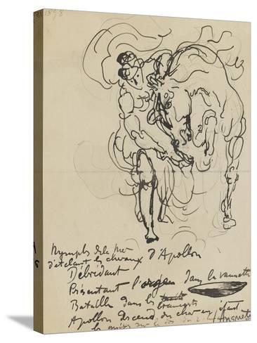 Etude pour une nymphe débridant l'un des chevaux d'Apollon-Louis Anquetin-Stretched Canvas Print
