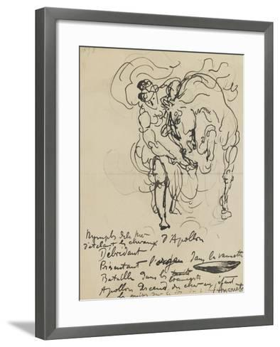 Etude pour une nymphe débridant l'un des chevaux d'Apollon-Louis Anquetin-Framed Art Print