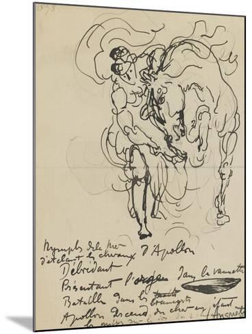 Etude pour une nymphe débridant l'un des chevaux d'Apollon-Louis Anquetin-Mounted Giclee Print