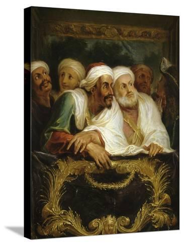 Mohammed Temin, ambassadeur du Sultan du Maroc, assistant à un spectacle dans une loge de la-Antoine Coypel-Stretched Canvas Print