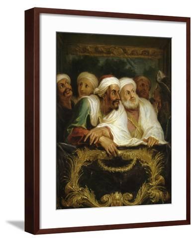Mohammed Temin, ambassadeur du Sultan du Maroc, assistant à un spectacle dans une loge de la-Antoine Coypel-Framed Art Print