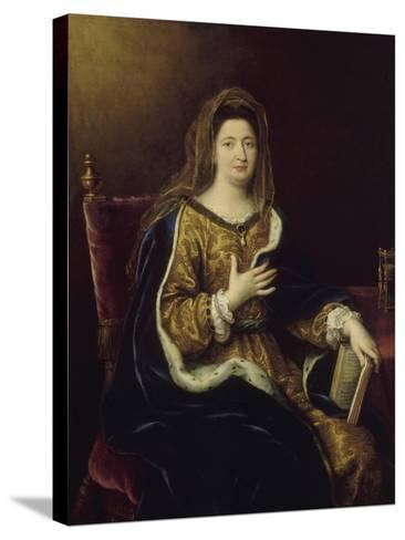 Françoise d'Aubigné, marquise de Maintenon, représentée en Sainte Françoise Romaine vers 1694-Pierre Mignard-Stretched Canvas Print