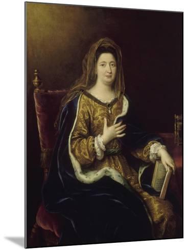 Françoise d'Aubigné, marquise de Maintenon, représentée en Sainte Françoise Romaine vers 1694-Pierre Mignard-Mounted Giclee Print