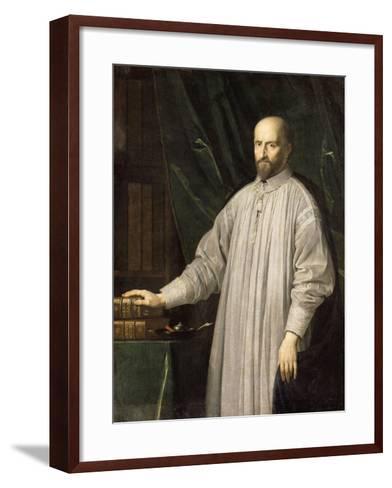 Jean-Ambroise Duvergier de Hauranne, abbé de Saint-Cyran (1581-1643) devant la Bible et les-Philippe De Champaigne-Framed Art Print
