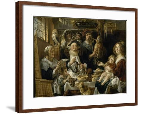 Les Jeunes piaillent comme chantent les vieux-Jacob Jordaens-Framed Art Print