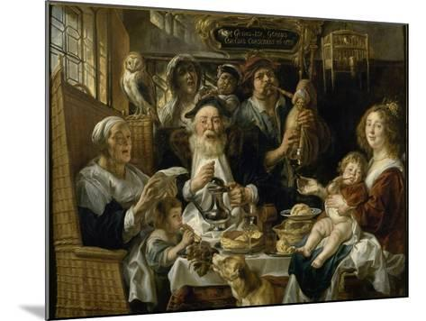 Les Jeunes piaillent comme chantent les vieux-Jacob Jordaens-Mounted Giclee Print