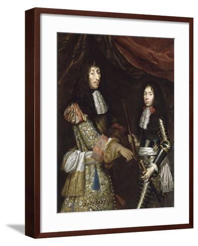 Louis II de Bourbon, 4° prince de Condé, dit le Grand Condé (1621-1686) et son fils aîné-Claude Lefebvre-Framed Art Print