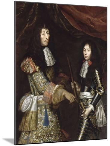Louis II de Bourbon, 4° prince de Condé, dit le Grand Condé (1621-1686) et son fils aîné-Claude Lefebvre-Mounted Giclee Print