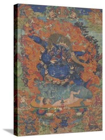 Yama, sous son aspect Las-gshin dpa'-gcig--Stretched Canvas Print