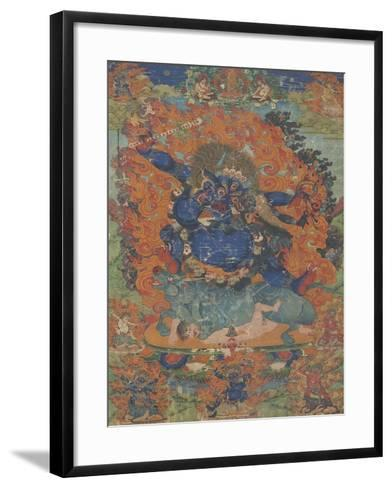 Yama, sous son aspect Las-gshin dpa'-gcig--Framed Art Print
