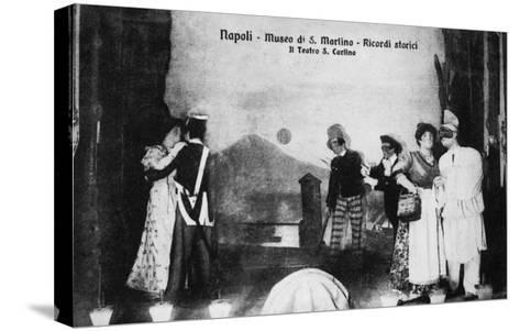 Document n° 3 provenant du carnet MP 1866 (Naples, Museo San Martino, ricordi storici, il teatro--Stretched Canvas Print