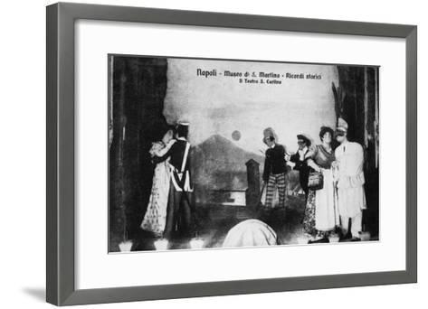 Document n° 3 provenant du carnet MP 1866 (Naples, Museo San Martino, ricordi storici, il teatro--Framed Art Print