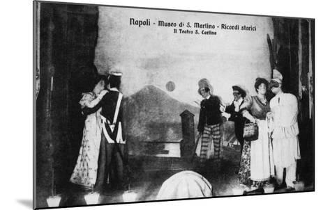 Document n° 3 provenant du carnet MP 1866 (Naples, Museo San Martino, ricordi storici, il teatro--Mounted Giclee Print
