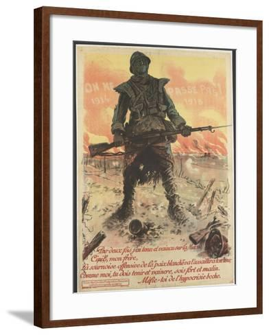 On ne passe pas! 1914/1918--Framed Art Print
