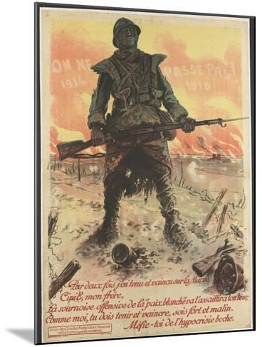 On ne passe pas! 1914/1918--Mounted Giclee Print