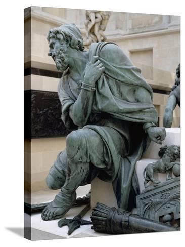 Eléments provenant du Monument à la gloire de Louis XIV. Les Quatre Nations vaincues-Martin Desjardins-Stretched Canvas Print