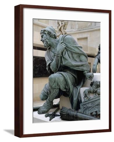 Eléments provenant du Monument à la gloire de Louis XIV. Les Quatre Nations vaincues-Martin Desjardins-Framed Art Print
