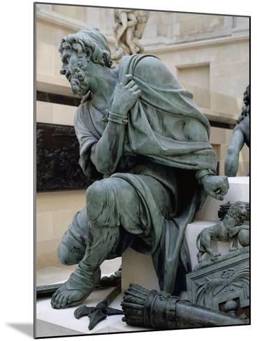 Eléments provenant du Monument à la gloire de Louis XIV. Les Quatre Nations vaincues-Martin Desjardins-Mounted Giclee Print