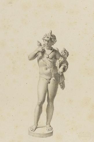 Bacchus jeune-Jean-Baptiste Joseph Wicar-Stretched Canvas Print