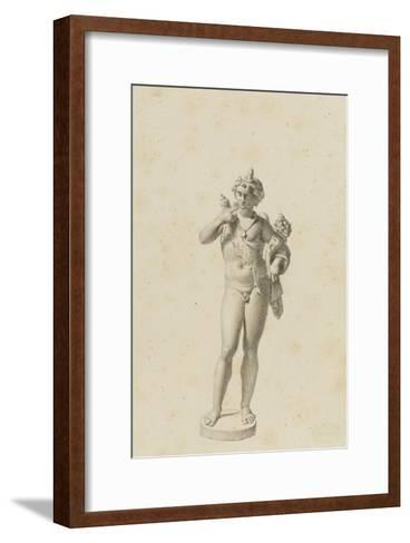 Bacchus jeune-Jean-Baptiste Joseph Wicar-Framed Art Print
