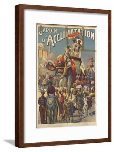 Jardin d'acclimatation--Framed Art Print