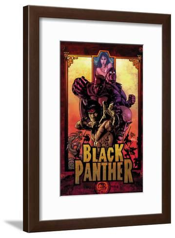 Black Panther No.11 Cover: Black Panther, Cage, Luke and Shang-Chi-Mike Deodato-Framed Art Print