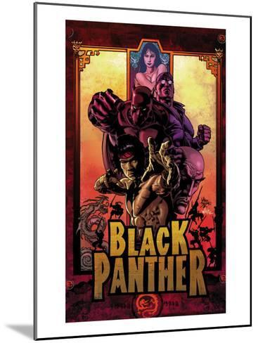 Black Panther No.11 Cover: Black Panther, Cage, Luke and Shang-Chi-Mike Deodato-Mounted Art Print