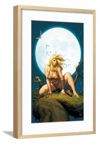 Shanna, The She-Devil No.5 Cover: Shanna The She-Devil Crouching--Framed Art Print