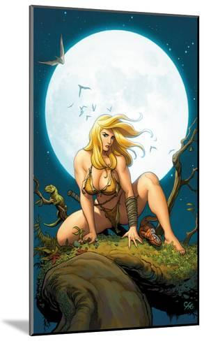 Shanna, The She-Devil No.5 Cover: Shanna The She-Devil Crouching--Mounted Art Print