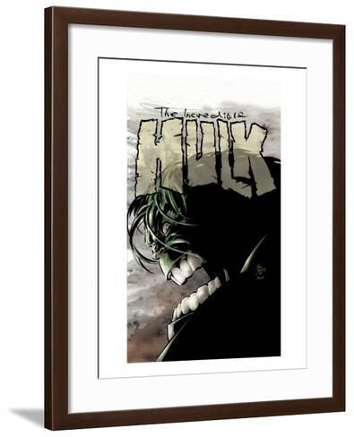 Incredible Hulk No.65 Cover: Hulk-Mike Deodato-Framed Art Print