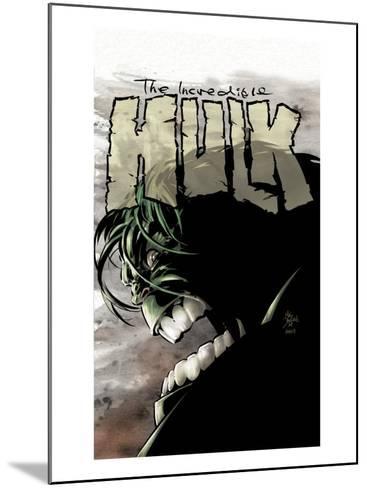 Incredible Hulk No.65 Cover: Hulk-Mike Deodato-Mounted Art Print
