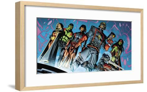 Guardians Of The Galaxy Must Have Cover: Star-Lord, Gamora and Rocket Raccoon-Clint Langley-Framed Art Print
