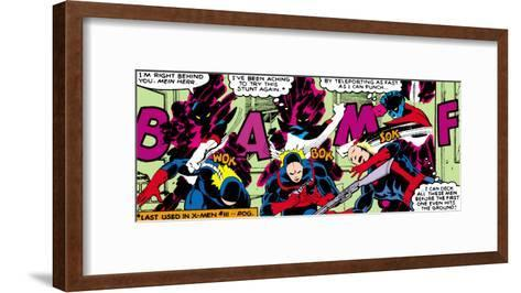 Marvel Comics Retro: X-Men Comic Panel, Nightcrawler--Framed Art Print
