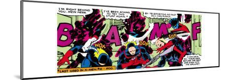Marvel Comics Retro: X-Men Comic Panel, Nightcrawler--Mounted Art Print