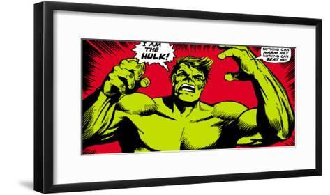 Marvel Comics Retro: The Incredible Hulk Comic Panel--Framed Art Print
