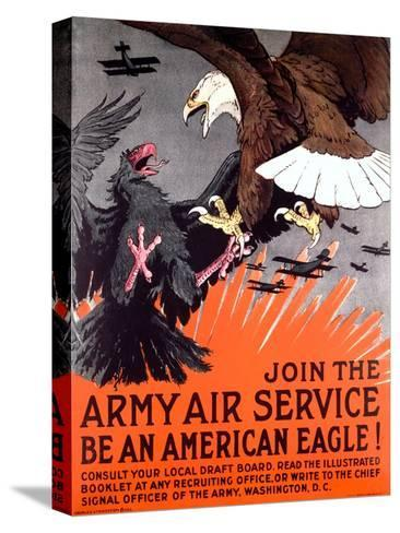 Join the Army Air Service War Eagle Poster--Stretched Canvas Print