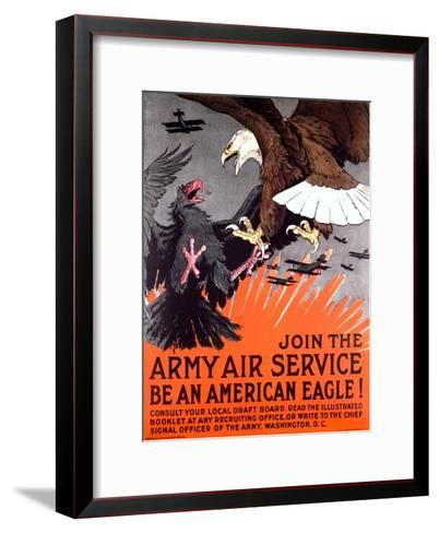 Join the Army Air Service War Eagle Poster--Framed Art Print