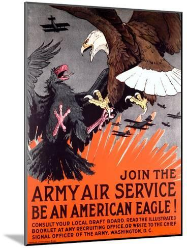 Join the Army Air Service War Eagle Poster--Mounted Giclee Print