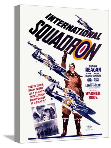 Ronald Reagan Squadron Movie Poster--Stretched Canvas Print