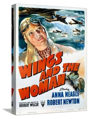 Wings and the Woman Movie Poster--Stretched Canvas Print
