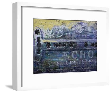 Blues Harp Vintage Harmonica-Lisa Weedn-Framed Art Print