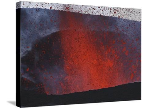 FimmvördUHals Eruption, Lavafountains, Eyjafjallajökull, Iceland--Stretched Canvas Print