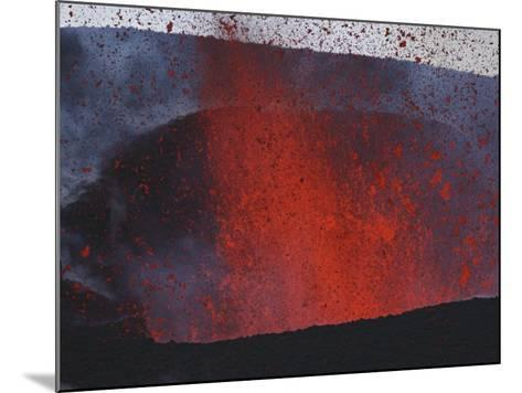 FimmvördUHals Eruption, Lavafountains, Eyjafjallajökull, Iceland--Mounted Photographic Print