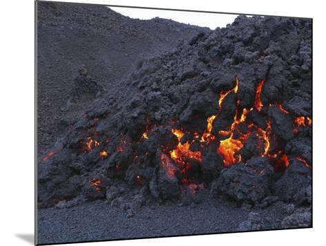 FimmvördUHals Lava Flow, Eyjafjallajökull, Iceland--Mounted Photographic Print