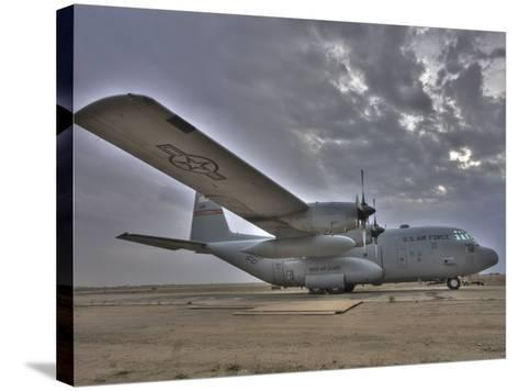 High Dynamic Range Image of a US Air Force C-130 Hercules--Stretched Canvas Print