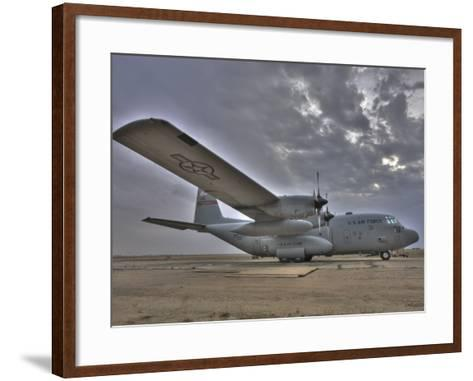 High Dynamic Range Image of a US Air Force C-130 Hercules--Framed Art Print