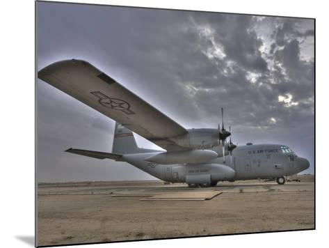 High Dynamic Range Image of a US Air Force C-130 Hercules--Mounted Photographic Print