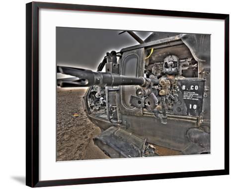 A UH-60 Black Hawk Door Gunner Manning a M240G Medium Machine Gun--Framed Art Print