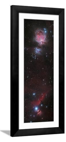 Mosaic of Orion Nebula and Horsehead Nebula--Framed Art Print